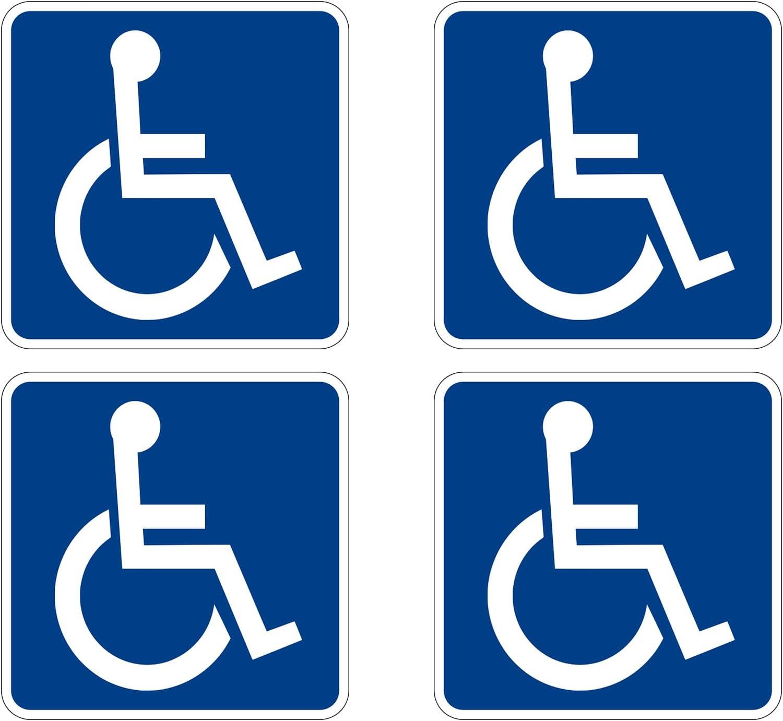 Handicap Vinyl Decal Sticker Car Window Home Parking Sign Disabled USA Seller