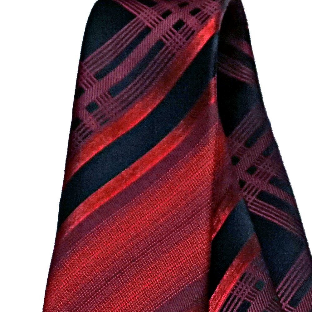 TracyTrends Corbata de cuello con diseño de cuadros, color rojo y ...