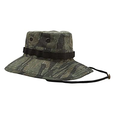 daf83ebd9bb Rothco The Vintage Tiger Stripe Vietnam Ear Boonie Hat 7 3 4 Greens  Amazon.co.uk   Sports   Outdoors