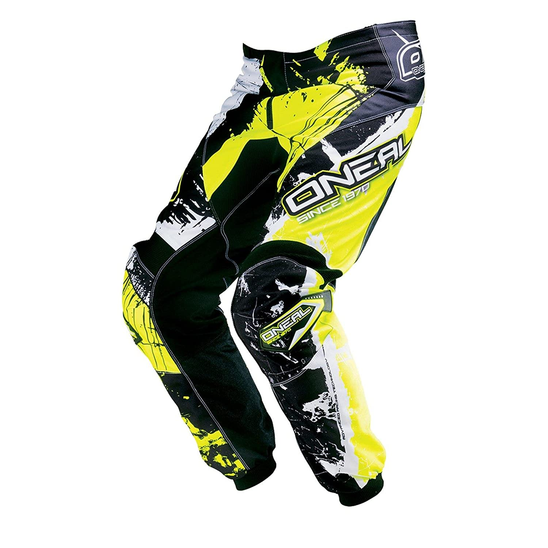 0124S-6 Gr/ö/ße 38//54 ONeal Element MX Hose Shocker Schwarz Neongelb Motocross Enduro Offroad