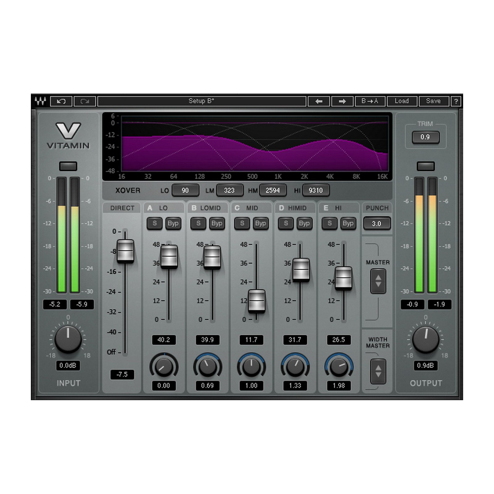 Waves Vitamin Sonic Enhancer | Multiband Harmonic Enhancer Plugin Download Only by Waves