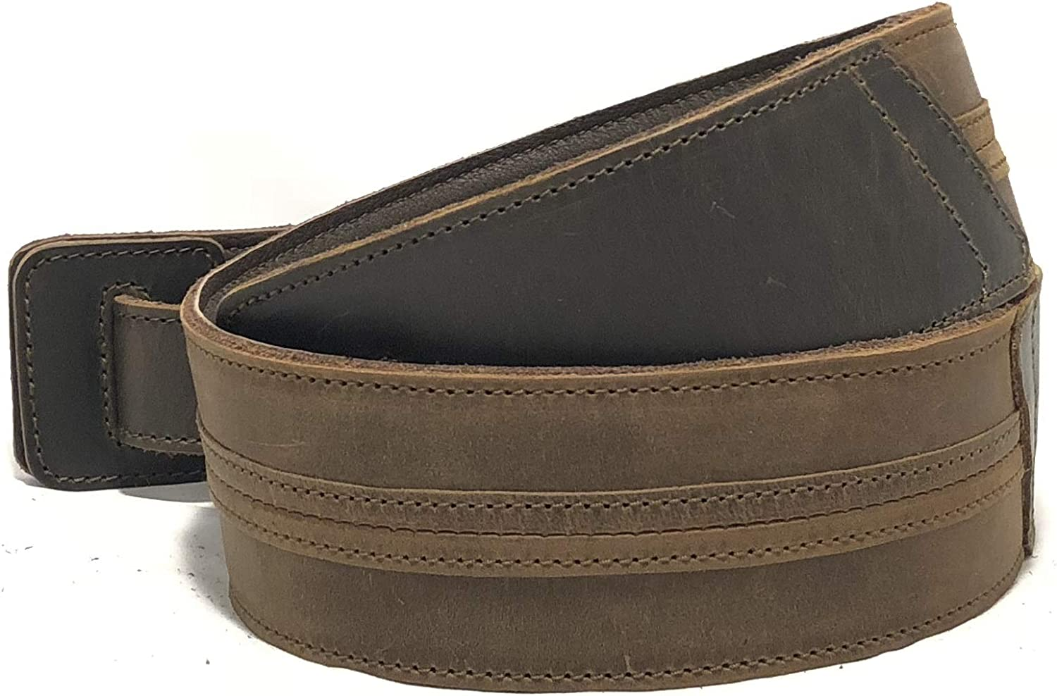 Straight Up Full Grain Padded Leather Guitar Strap - For Electric, Acoustic, and Bass Guitars by Anthology Gear (2