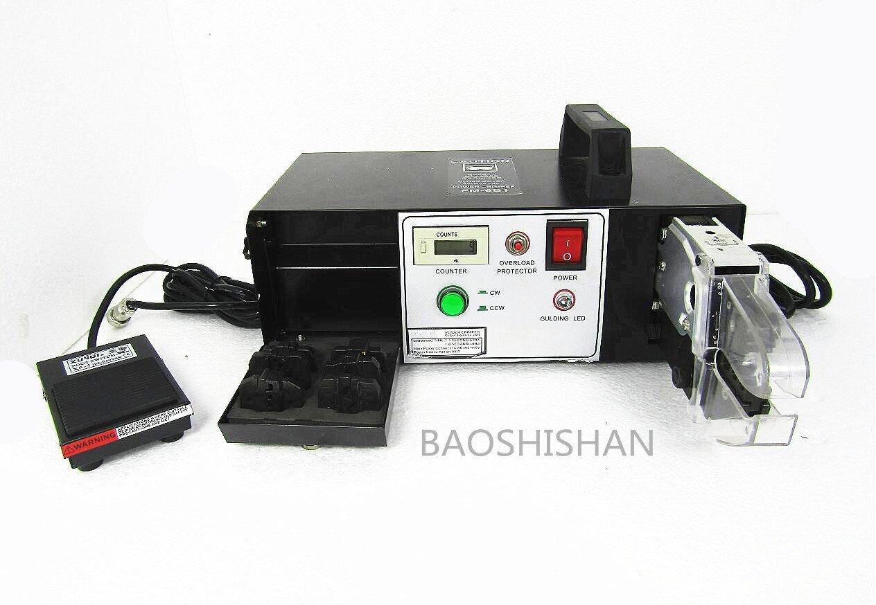 BAOSHISHAN 110V/220V EM-6B2M 電動卓上圧着機 ダイセット圧着工具付 精密端子圧着機 出力12.7KN (110V) B07C9QY6WH