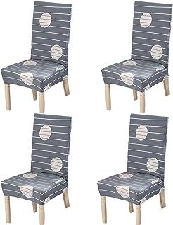 Stuhlhussen 4er Set Universell Stuhl Abdeckung Stretch Stuhl Decken  Dekorative Stuhlüberzüge