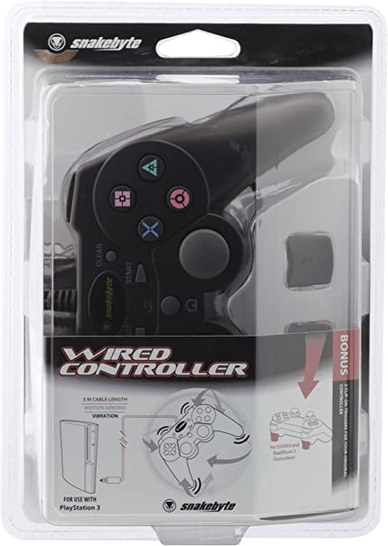 71WcRbMH8HL._AC_SX430_ amazon com snakebyte ps3 premium wired controller video games Wired PS4 Controller at bakdesigns.co