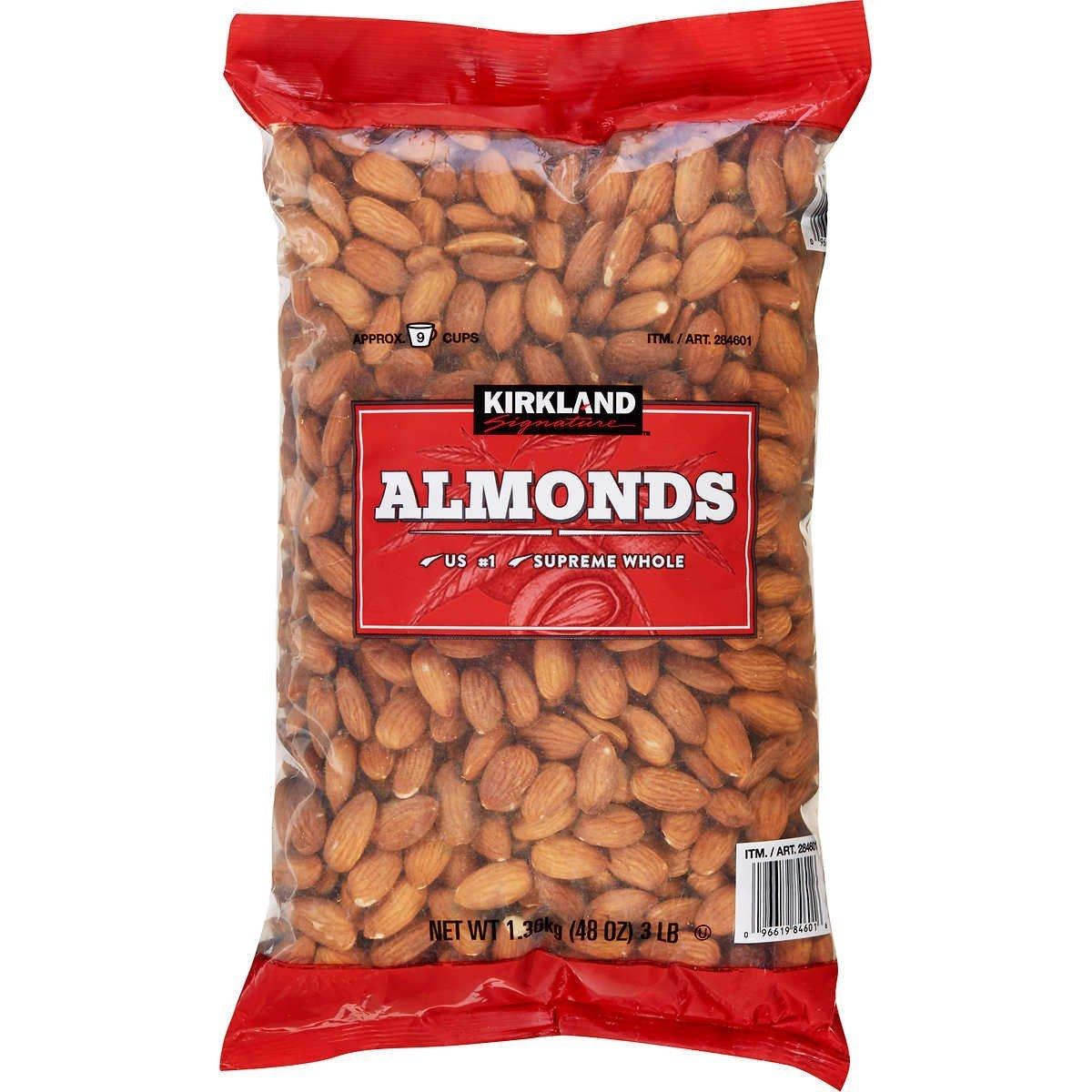 Kirkland Signature Nuts, Almonds, 48 Ounce by Kirkland