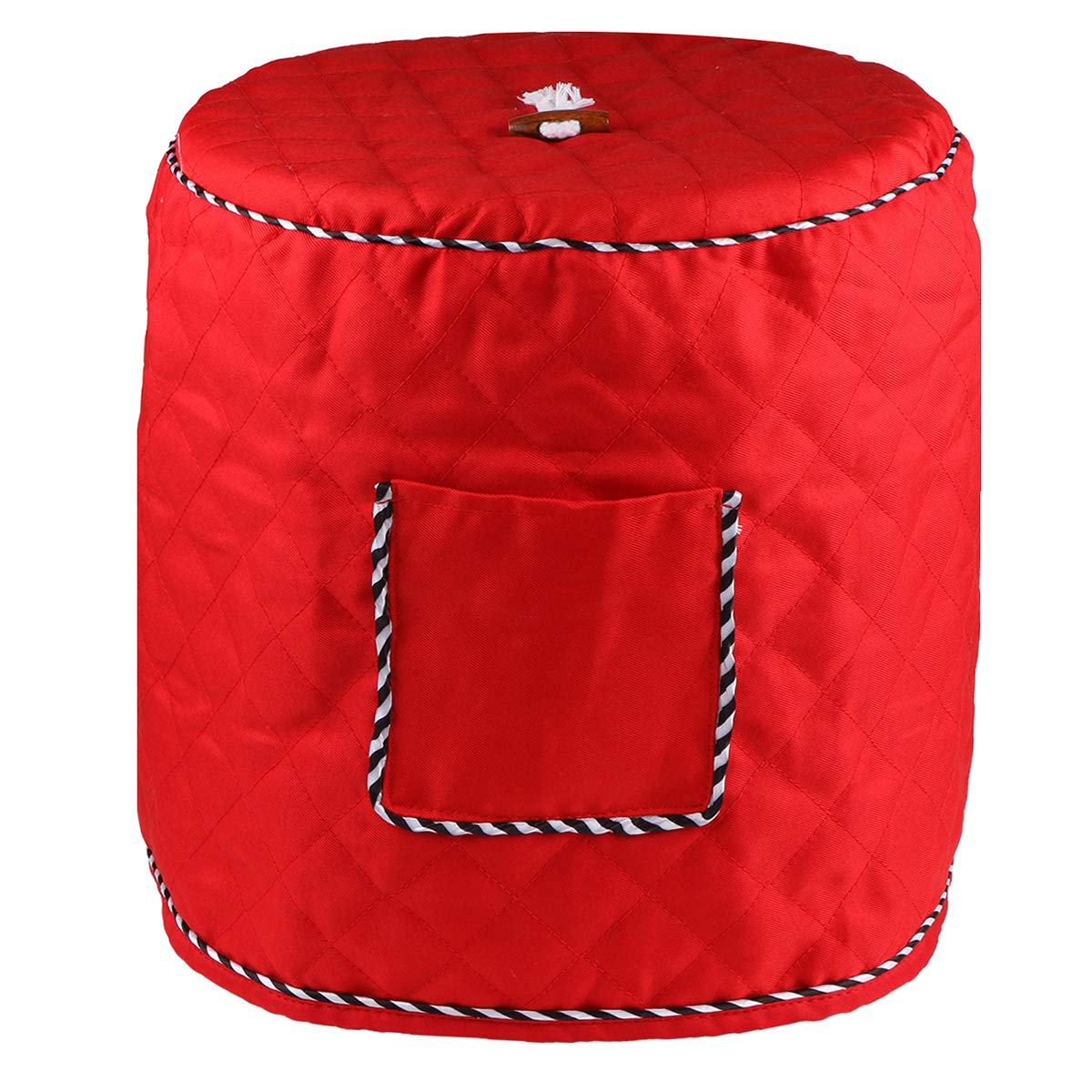 Dust Proof Cover for 6 Quart Instant Pot and Electric Pressure Cooker,Evermarket Decorative Appliance Cover with Pocket for Accessories,Red