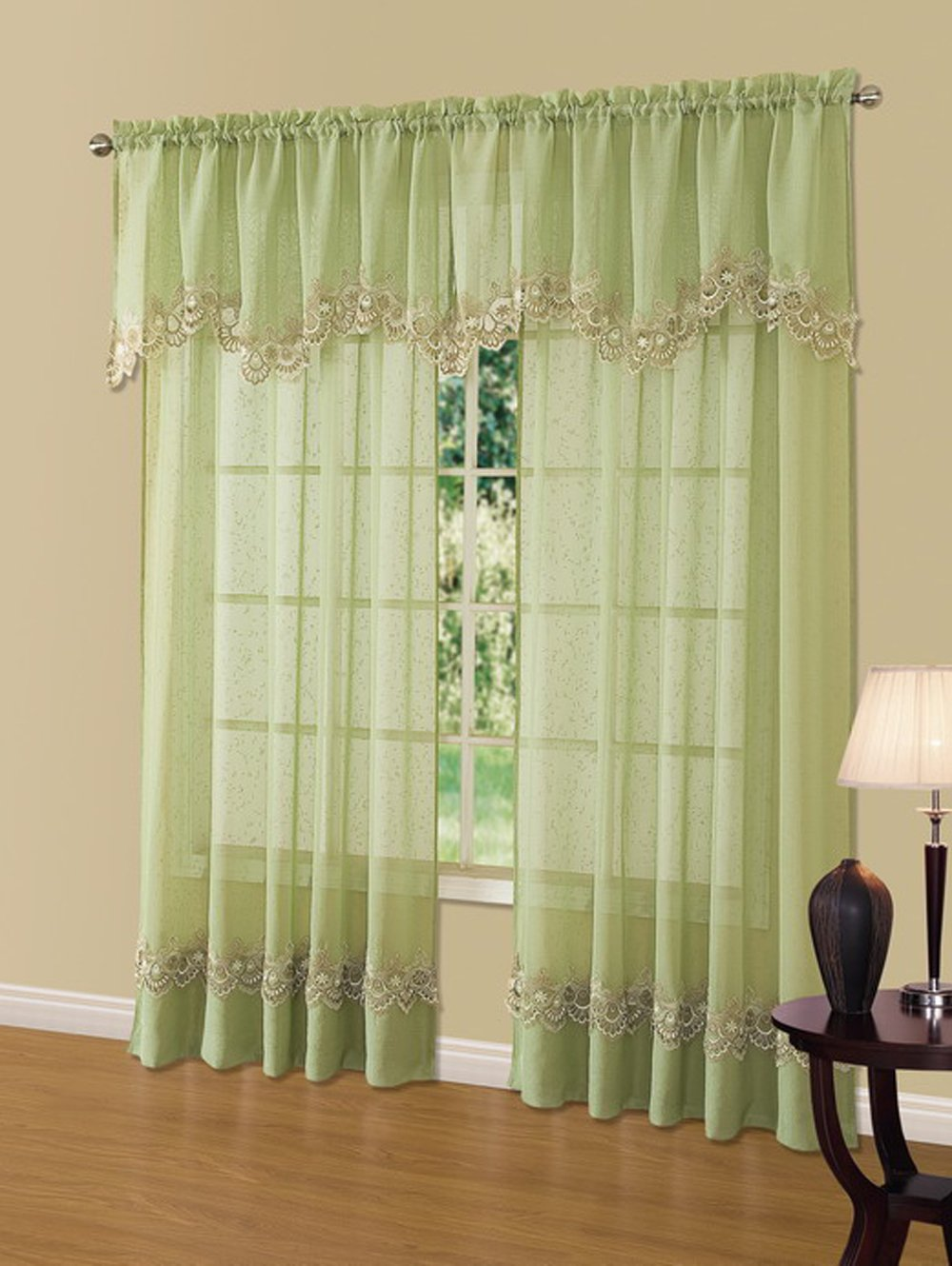 curtains curtain width in with hollow lace pastoral tab from window aliexpress valance garden crochet home linen item on tassels com top drape