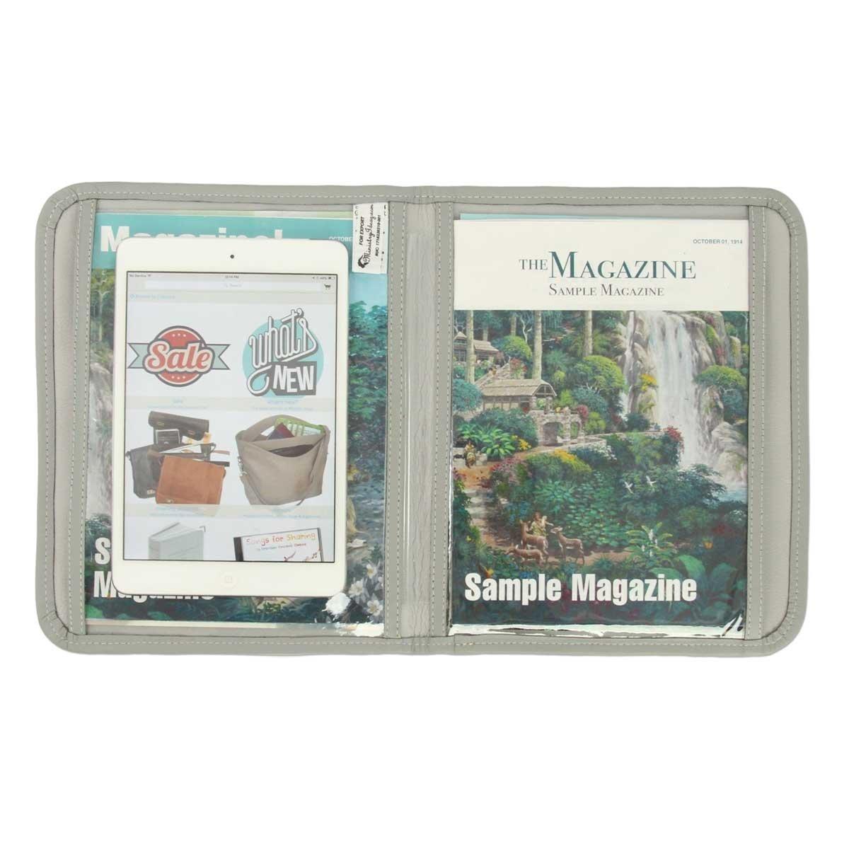 Amazon com : Magazine and Tract Display Folio - Brown
