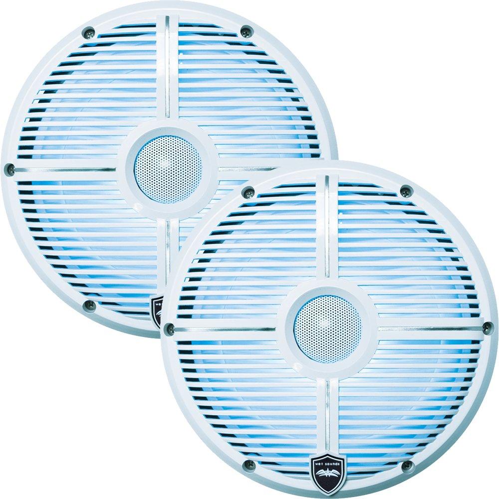 Wet Sounds Revo8 8-Inch 300W White LED Full Range Marine Speakers