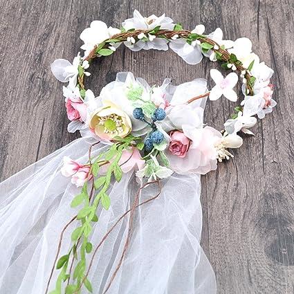 Garland copricapo copricapo da sposa Sposa cappella corona di velo  ornamenti cappelli da sposa accessori di 497d67c23ddc