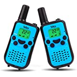 Walkie Talkies For Kids, Wireless Interphone 22 Channel FRS/GMRS 2 Way Radio 2 miles (up to 3 Miles) UHF Handheld Walkie Talkies for Kids,Business Outdoor Use(1 Pair) (Blue)