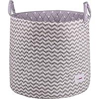 Cotton Storage Basket, Large, 45*40 – Award winning Collapsible Portable Wipe Clean Cotton Basket, Baby Nursery…