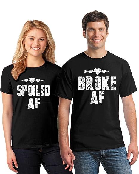 ff4fcf66b Pekatees Broke & Spoiled AF Matching Shirts Funny Couples Shirts Broke AF  Tshirt Spoiled AF Tshirt