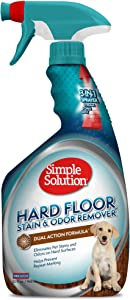 Simple Solution Hard Floor Pet Stain and Odor Remover   Dual Action Cleaner for Sealed Hardwood Floors   32 Ounces