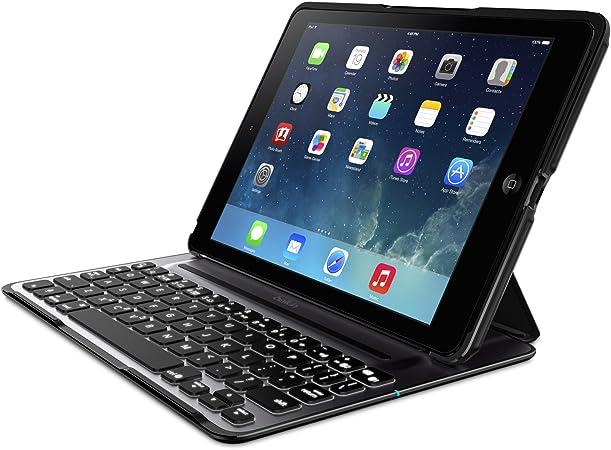 Belkin QODE Ultimate Pro F5L171eaBLK - Funda con Teclado para iPad Air (QWERTY, ángulos de visualización, Encendido/Apagado automático), Negro