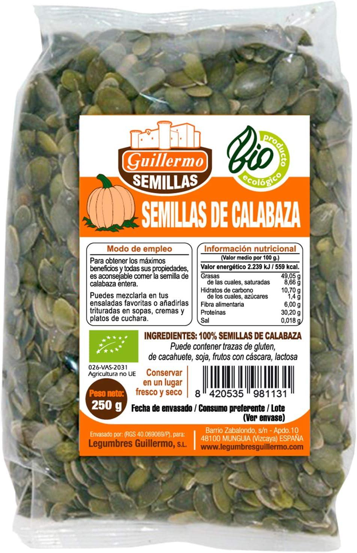 Guillermo Semillas de Calabaza Ecológica BIO Superalimento 100 ...
