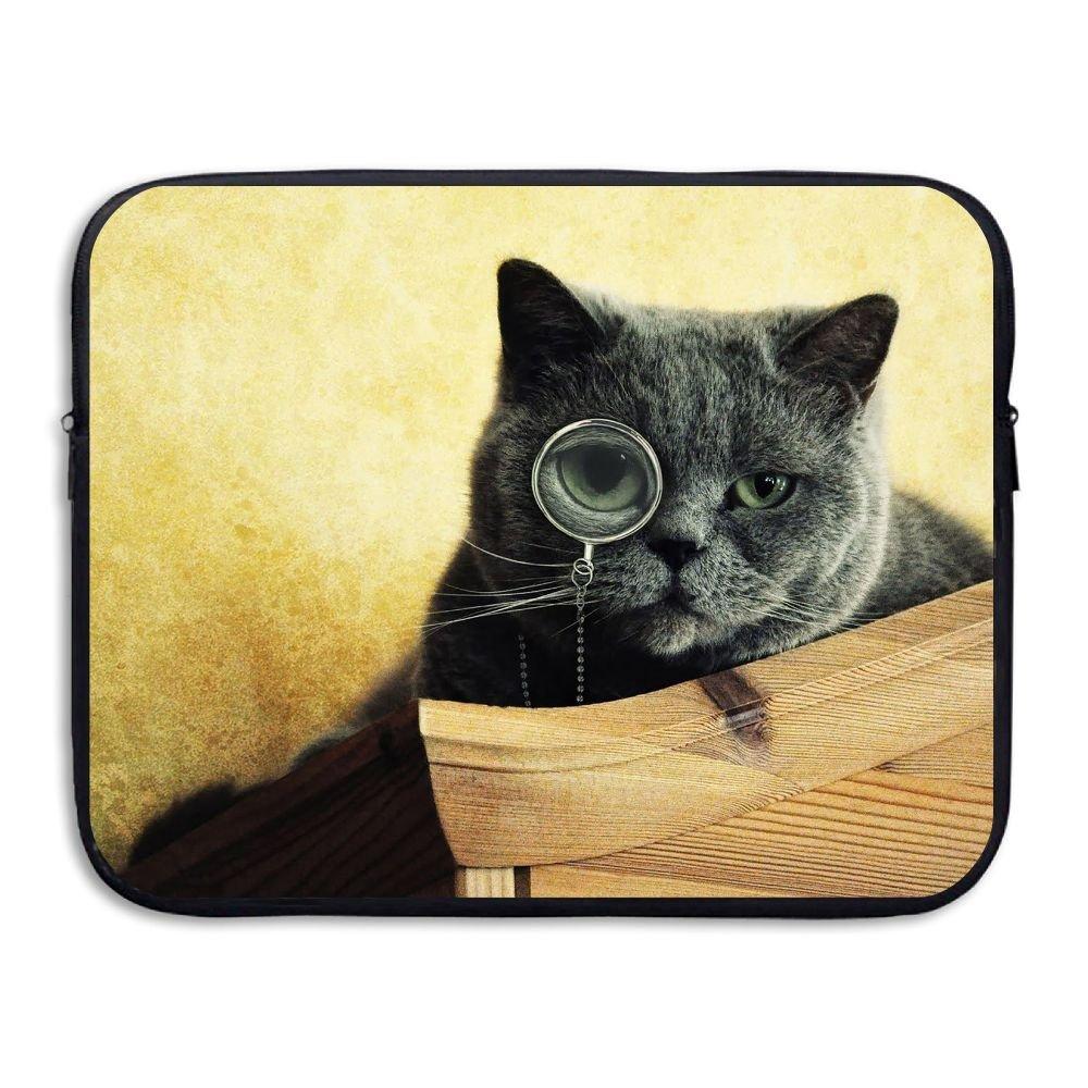 Mr.Roadman Laptop Sleeve Bag Cat Wear Glasses Briefcase Sleeve Bags Cover Computer Liner Case Waterproof Computer Portable Bags