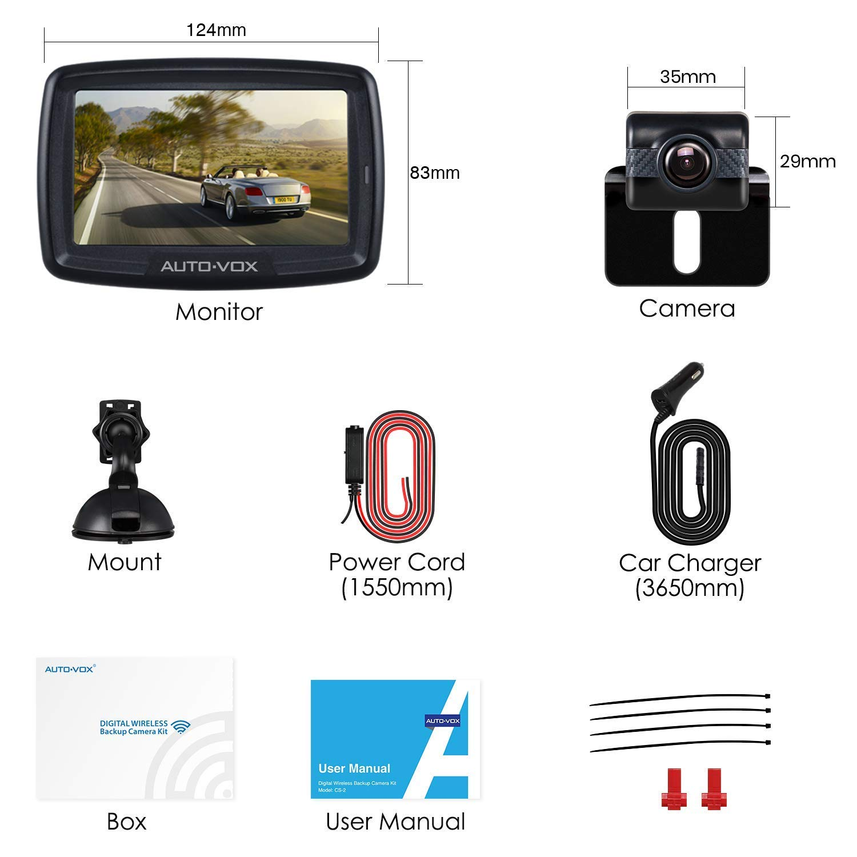 Auto-Vox Cam é ra de Recul sans fil avec Transmetteur Int é gr é ... ae556bfb579a
