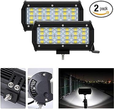 IP68... 2pcs 240W Off Road Driving Lights LED Light Bar 6000K Fog lights