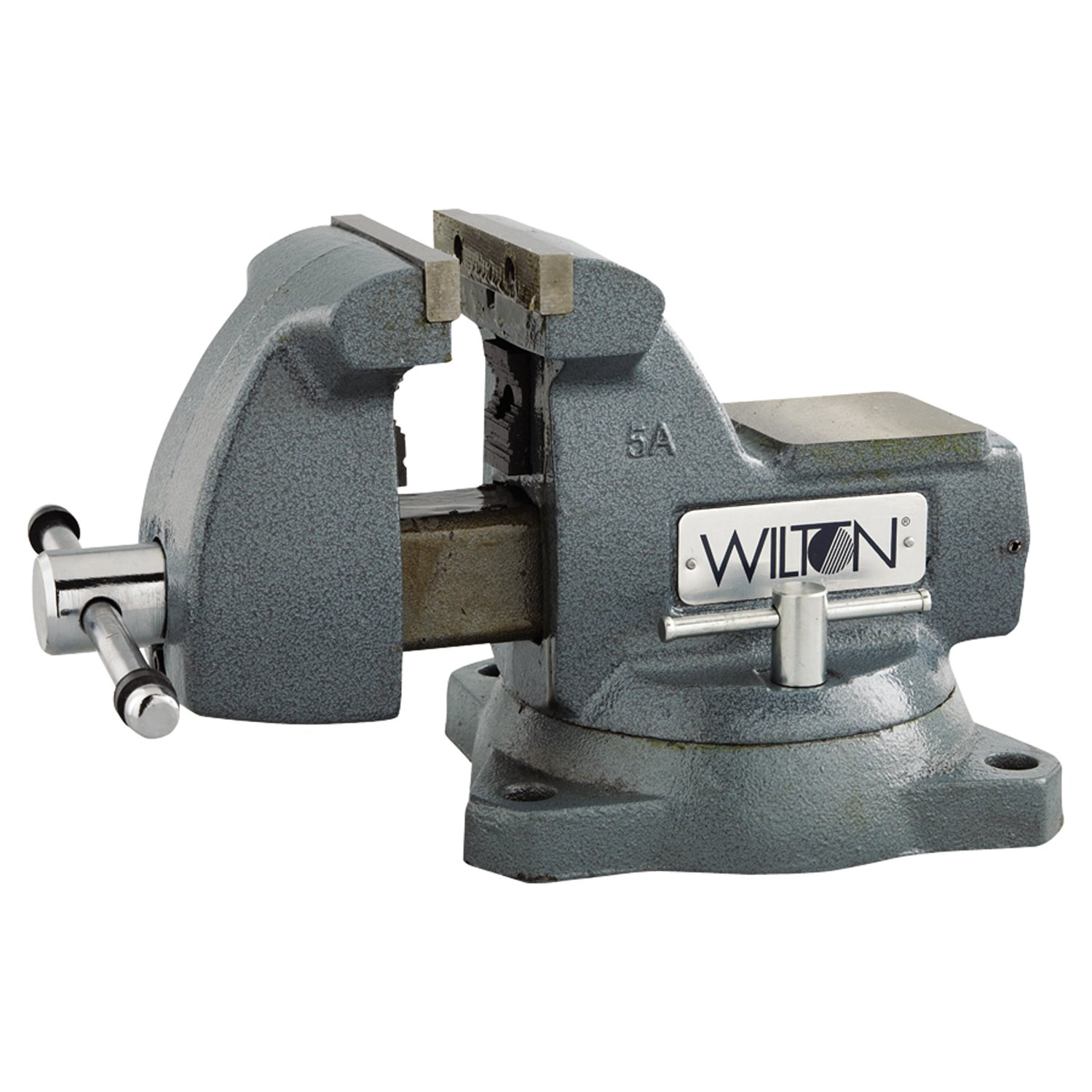 Wilton 21400 Machinists Vises, 5'' Jaw, 3 3/4'' Throat, Swivel Base by Wilton