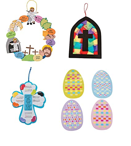 Amazon Com Easter Craft Kit For Kids Religious Set Stain Glass