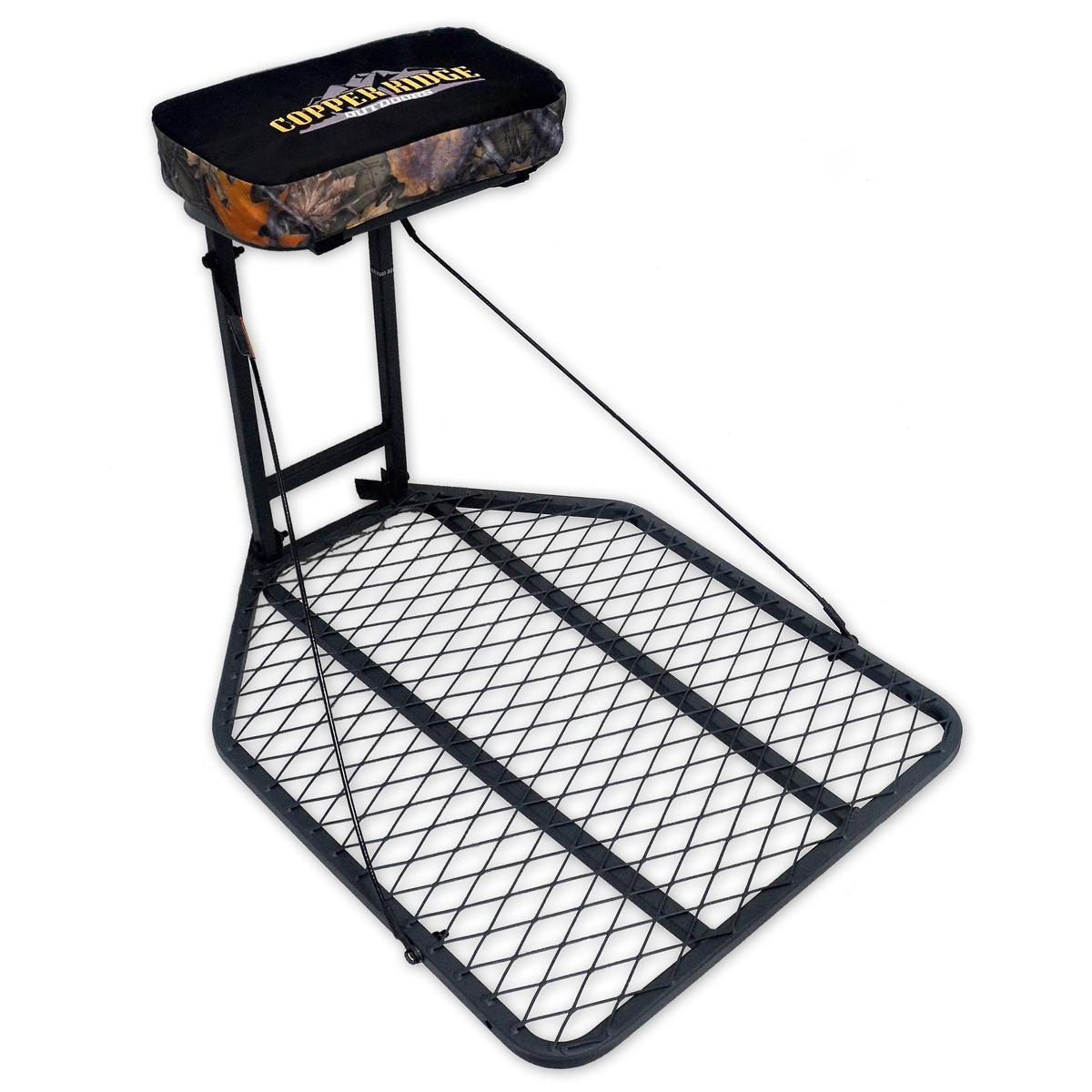 "Copper Ridge Outdoors Tree Stand - Hang On Deer Stand, Large 24"" x 32"" Foot Platform, Flip Up Padded Seat, Steel Construction, 300 lb. Weight Capacity, Treestand for Deer Hunting by Copper Ridge Outdoors (Image #1)"