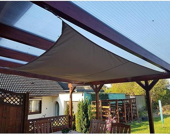 XXJF Toldo Vela Sombra Rectangular Protección UV para Resistente E Lmpermeable,toldo Vela De Patio Exteriores Jardín Exteriores, Jardín, (Color : Grey, tamaño : 6.5x9): Amazon.es: Hogar