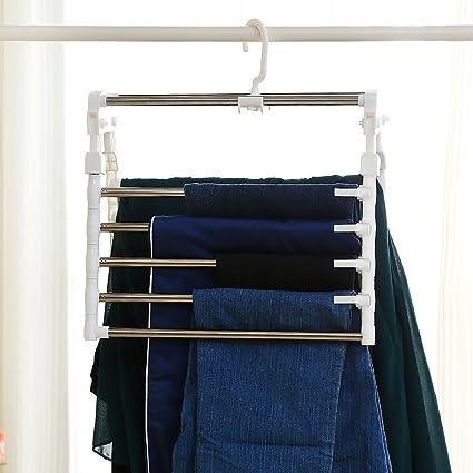 1208S Space Saving Pants Clothes Hangers Pants Organizer Extendable For  Closet Travel Clothes Dryer, Quality