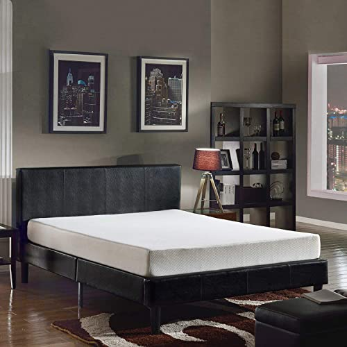 Swiss Ortho Sleep 8″ High-Density 3X Layered Memory Foam Mattress w/Bamboo Cover