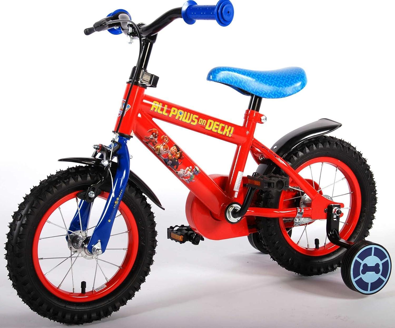 Bicicleta niño Paw Patrol 12 pulgadas 3 4 4,5 años ruedas rojo azul: Amazon.es: Deportes y aire libre