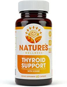 Thyroid Support Complex With Iodine For Energy Levels, Weight Loss, Metabolism, Fatigue & Brain Function - Natural Health Supplement Formula: L-Tyrosine, Selenium, Kelp, Bladderwrack, Ashwagandha, etc