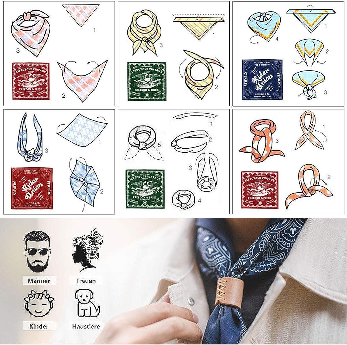 Yakasu bandana head scarf paisley headbands 100/% cotton hair scarf velour scarf with cashew pattern for men and women 55 x 55 cm