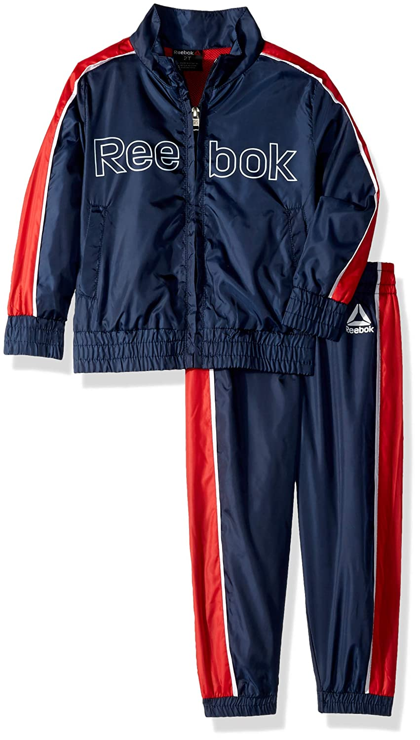 Reebok Boys Toddler Nylon Retro Windsuit Zip Up Jacket and Jog Pant B/_2437