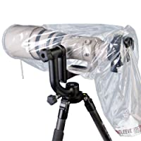 Op/Tech 9001252 Mega Rainsleeve for Camera (Pack of 2) - Clear