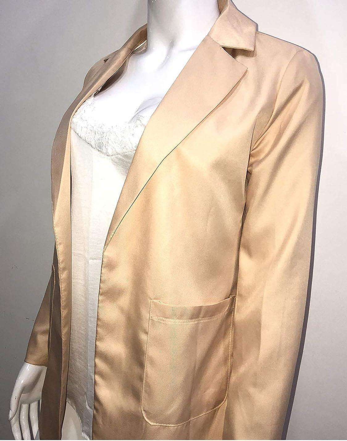 Naliha Women Casual Work Blazer Long Sleeve Cardigan Blazers Jacket Outwear