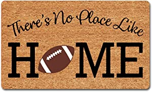 """Funny Welcome Rugs Novelty Gift Mats There's No Place Like Home Home Plate Football Doormat Home Decor Rugs Monogram Novelty Gift Doormat For The Front Door18""""(W) x 30""""(L) For the Entrance Way Indoor"""