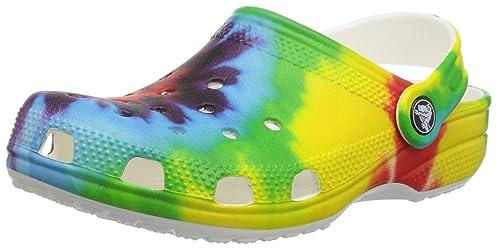 e66dc1fdf3fa8 Crocs Unisex Kids Classic Tie Dye Graphic Clog K, Multi, 2 M US Little