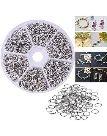 Velidy - 600 anillos de doble capa de acero inoxidable 304, 5/6/