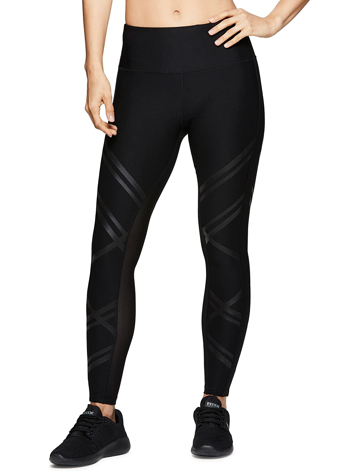 Black Spring Combo RBX Active Women's Workout Yoga 7 8 Ankle Legging with Side Detail