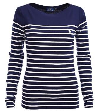 new products 65649 a6b94 Ralph Lauren Polo Damen Longsleeve Shirt Langarm Dunkelblau ...
