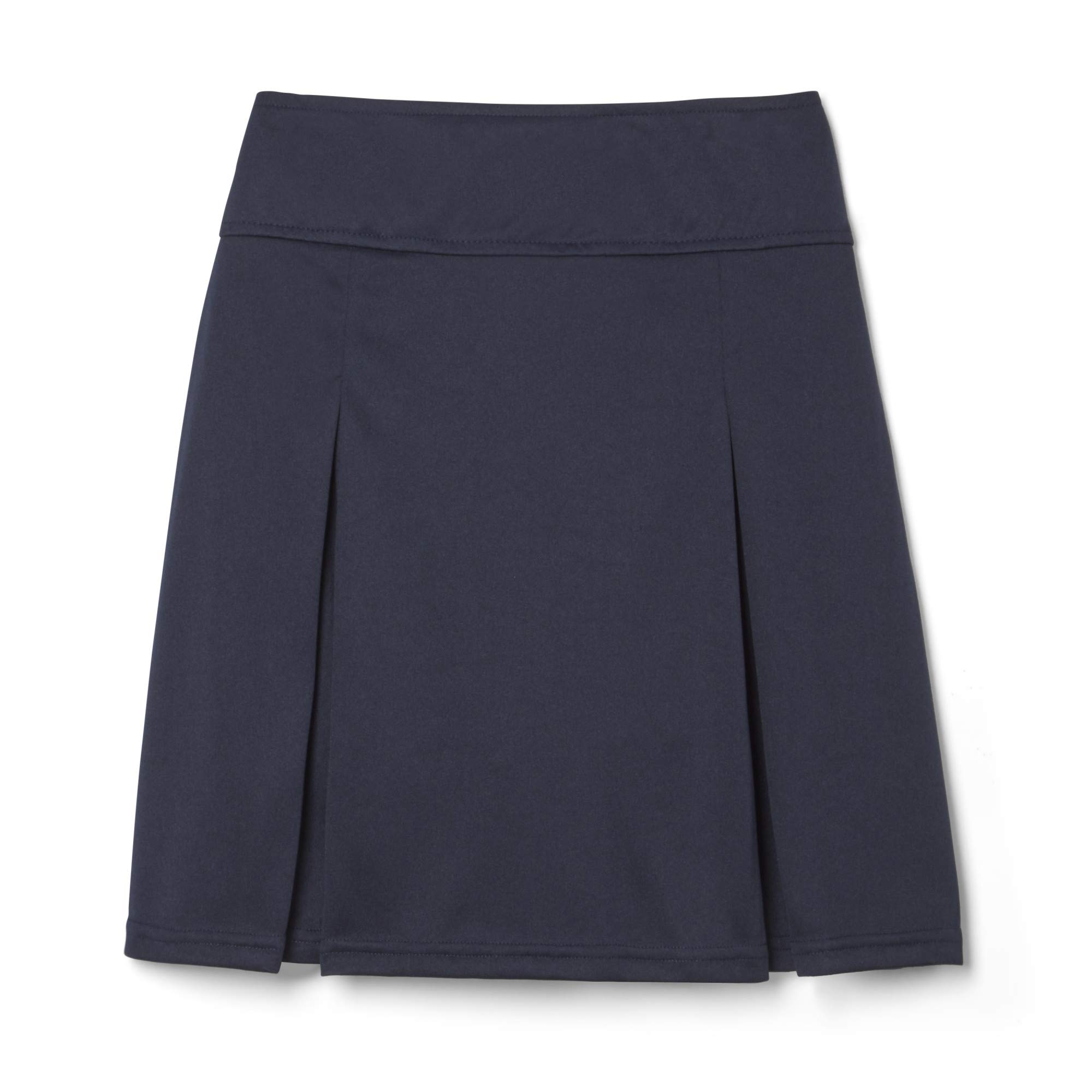 French Toast Girls Plus Size' Pull-on Kick Pleat Scooter, Navy, L (14/16P) by French Toast