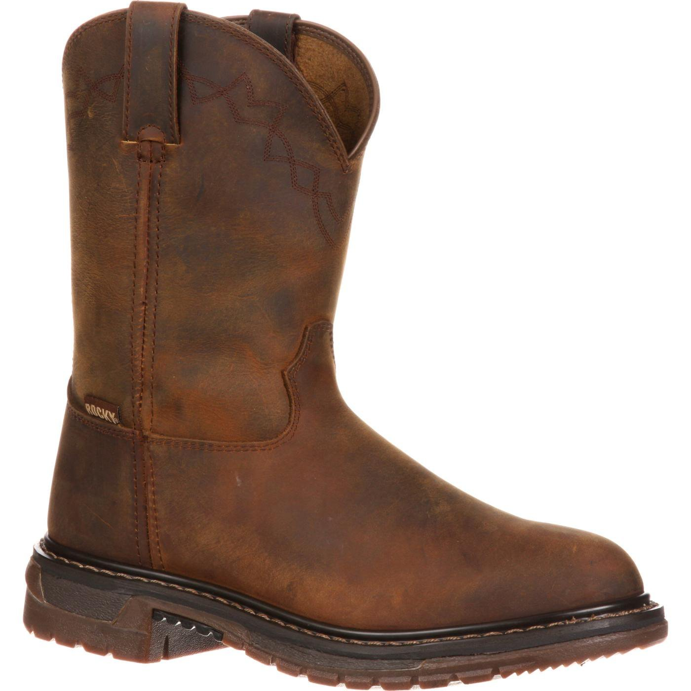 ROCKY Men's FQ0001108 Western Boot, Trail Brown, 10.5 M US by ROCKY