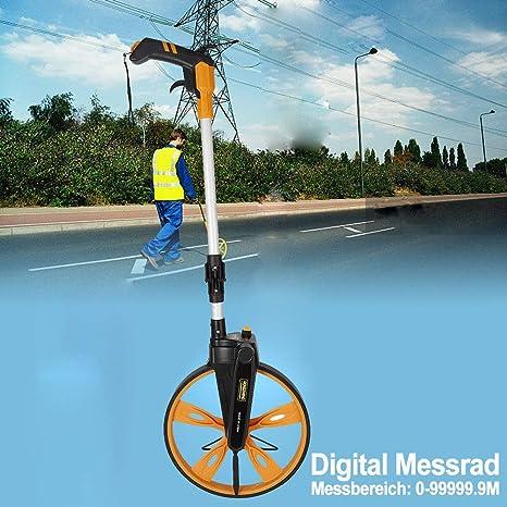 Profi Digital Messrad bis 99999.9m Rolltacho Streckenmessgerät Messroller TOP DE