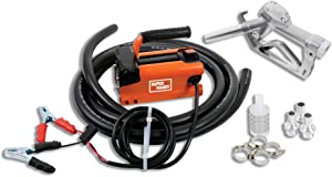 SuperHandy Diesel Transfer Pump Kit 10GPM/40LPM Heavy Duty Portable Electric DC 12V Alligator Clamps includes: Aluminum Manual Nozzle, Delivery & Suction Hose w/Filter (NOT For Gasoline)