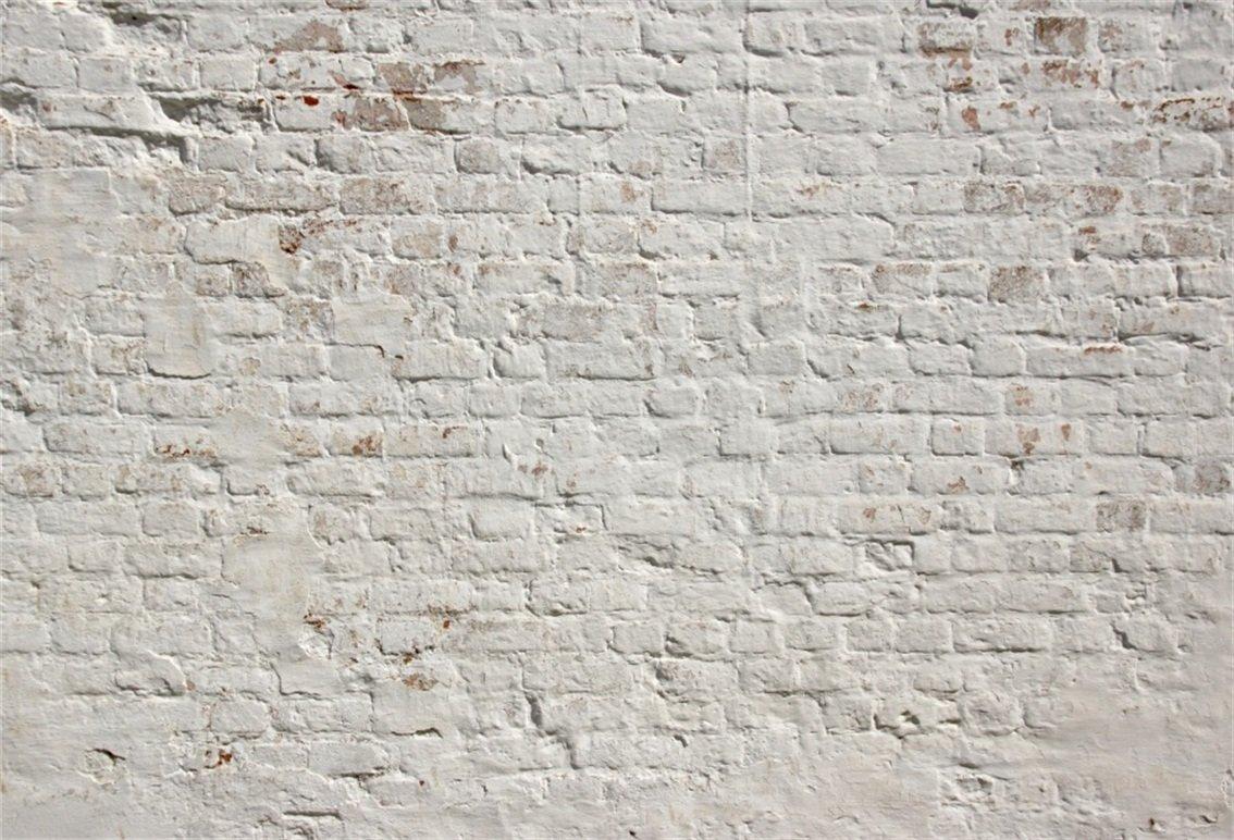 csfoto 7 x 5ft背景ホワイトレンガ壁写真用背景幕Rough Agedレンガ壁Clean Urban建物グランジサーフェス履歴抽象レンガ壁フォトスタジオ小道具ポリエステル壁紙   B07DJBGNBM