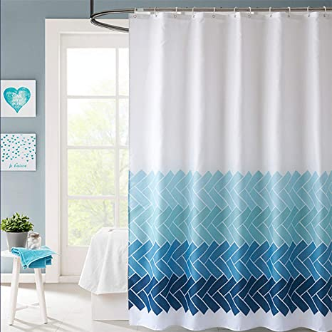 Waterproof Polyester Fabric Various Pattern /& 12 Hooks Bathroom Shower Curtain