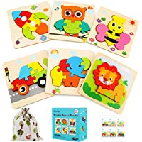 Luclay Puzzles de Madera Educativos, Juguetes Montessori para Bebé Niños 2 3 4 5 años, Preescolar Juguetes Regalos…