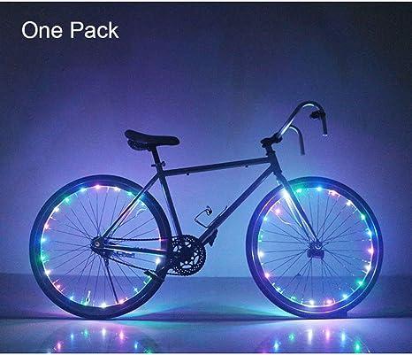 Para radios de luces LED para ruedas de bicicleta luz bicicleta ...
