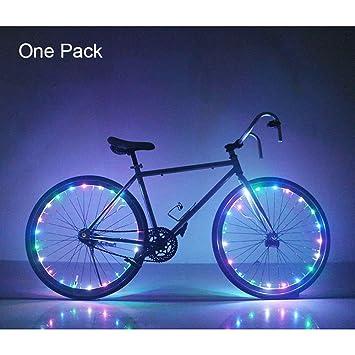 Para radios de luces LED para ruedas de bicicleta luz bicicleta rueda neumático habló luz de señal - Multicolor: Amazon.es: Deportes y aire libre